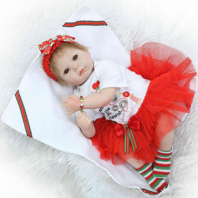 2016 New Reborn Baby Dolls Realistic Toy Soft Silicone 20 Inch Newborn Princess Girls With Fashion Dress Kids Christmas Gift<br><br>Aliexpress