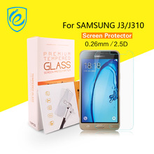 10PCS/LOT HD Clear Glass Screen Protector for Samsung J3 J310 2016 Tempered Glass Frosted Matte Vision