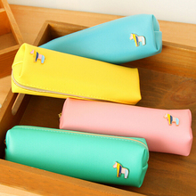 New High Quality PU Pencil Bag Cute High-capacity Zipper Pencil Case Writing Supplies Office School Supplies Fashion Gifts