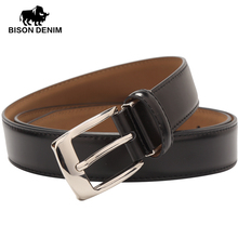 BISON DENIM hot belts luxury high quality cow genuine leather belts for men/women accessories casual waist belt for gift W71122