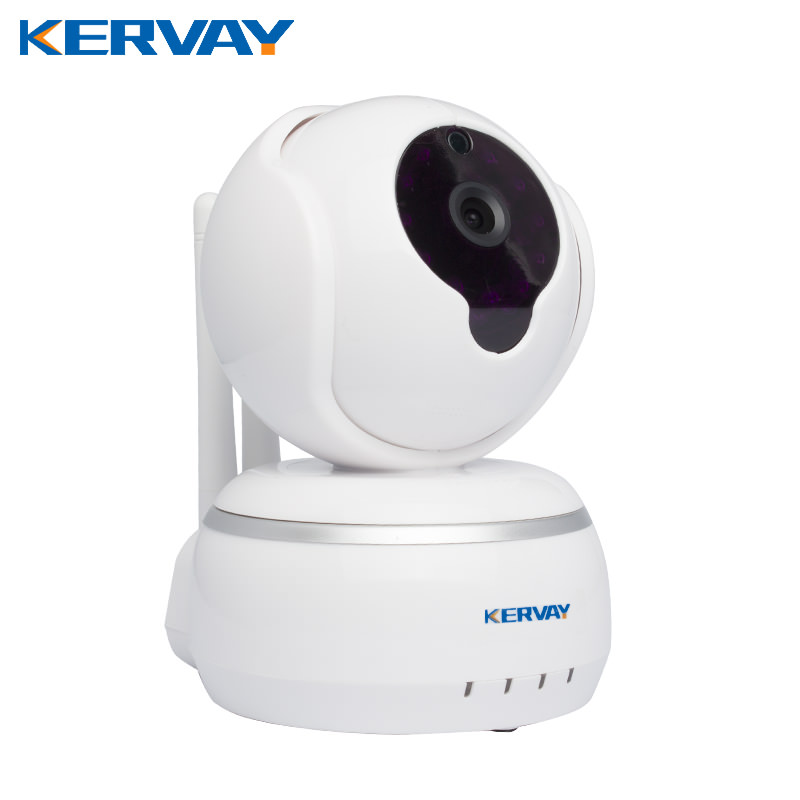 Kervay WIFI HD 720P Smart IP Camere with IR-Cut Night Vision android IOS APP baby minitor P2P alarm linkage Surveillance Camera<br>