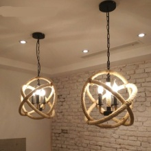Retro industry vintage clothing store restaurant Nordic creative industries one rope pendant light bar billiards ZH