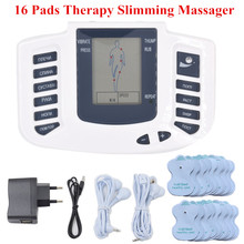 Russian Version Electronic Body Slimming Massage for Muscle Relax Pain Relief Tens Acupuncture Therapy Machine 16 pads
