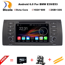 Octa Core Android 6.0 64bit 32GB+2G RAM Car DVD Player Support OBD2 DAB+ GPS Maps For BMW E39/E53/X5/M4/Range Rover With RDS BT