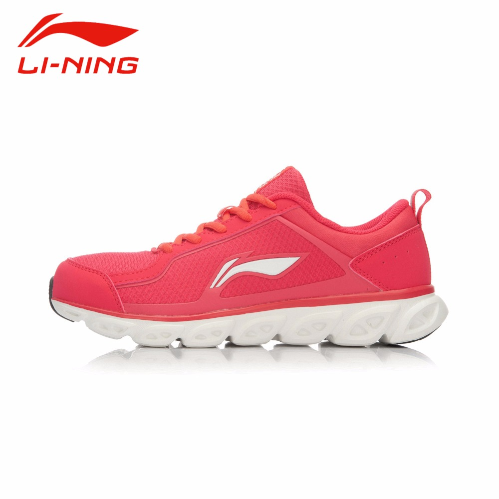 Li-Ning Womens Portable Lace-Up Running Shoes Li Ning Anti-Slip PU+Fabric Breathable Simple Outdoor Sports Sneakers ARHK064<br><br>Aliexpress