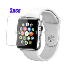 PET 3pcs/Lot Front Transparent LCD Screen Guard Protectors for Apple Watch / iWatch (38mm) Film Quality