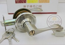 5 Sets Entry Lever Door Lock set, Lock knob set, Privacy Door Locks and Key (Right open)(China)