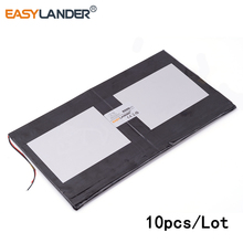 10pcs/Lot 3.7V 6000mAh 35112135 polymer lithium ion /Li-ion battery for Sanei N10 Ampe A10 Quad Core HKC T90 Dual Core tablet pc(China)