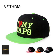 VEITHDIA New Europe and the United States hip-hop hip-hop hat men and women shine flat along the baseball cap hot hat