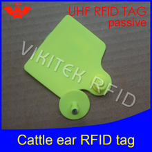 UHF rfid tag tracing electronic Animal ear tag EPC Gen2 ISO18000-6C 915m 868m 860MHz-960M alien h3 rfid cattle cow bull ear tag