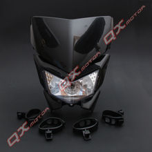 12V 35W Streetfighter Headlight Black Head Light Custom Motorcycle Head Lamp Universal For Dirt Bike