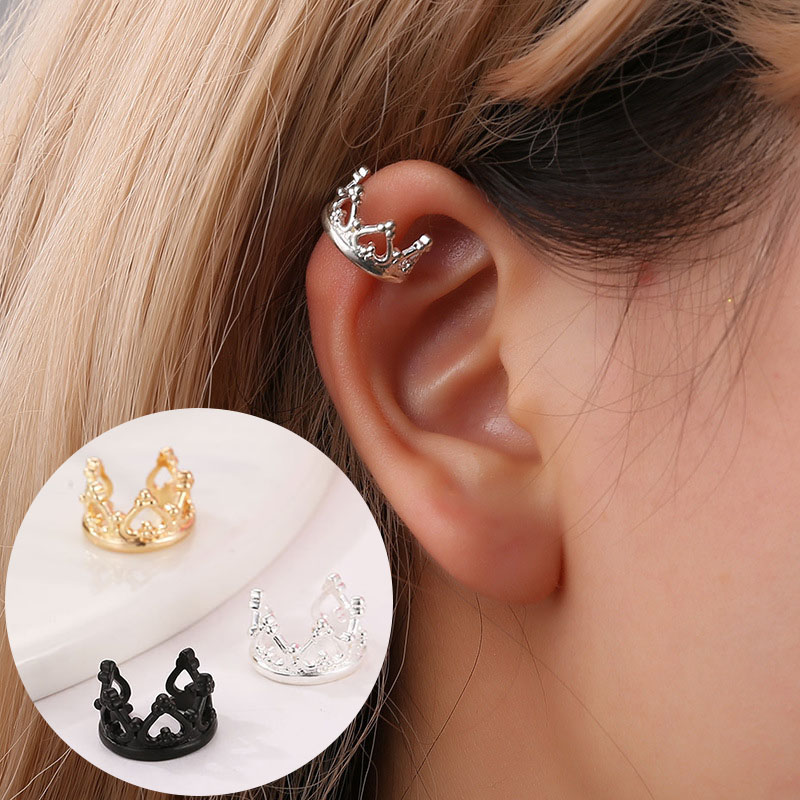 Sterling Silver Ear Cuff Punk Rock Style solid silver leaf pair Scorpion vintage