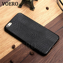 VOERO Luxury Crocodile Snake Print Leather Case For iPhone X 6 6s Plus Case Back Cover For iPhone 7 7 Plus Cases Phone Shell(China)