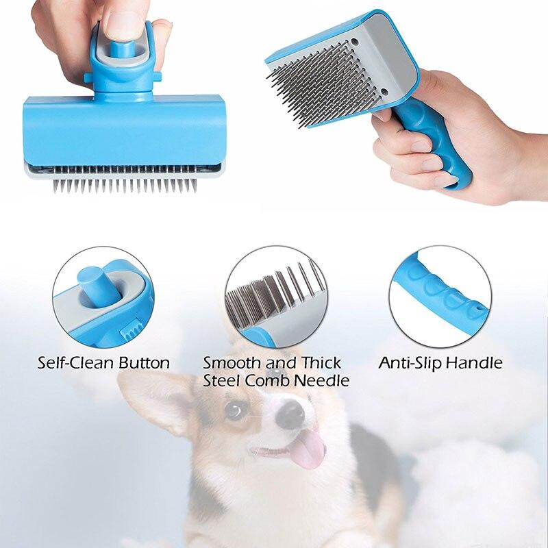 dog deshedding brush