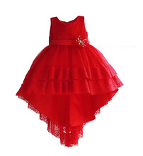 Wholesale Girls Train Dresses Kids Party  Clothes Children Evening Dress 3-8T