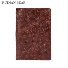Buy KUDIAN BEAR Genuine Leather Passport Holder Rfid Travel Passport Wallet Embossed Passport Cover Documents --BIK079 PM49 for $11.90 in AliExpress store