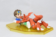 Anime Figure 10CM Digimon Guilmon & Matsuda Takato PVC Action Figure Collectible Model Toy With Box