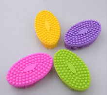 Ultra Soft Silicone Bath Shower Massage Brush Bathroom Bathing Spa Body Massage Shampoo Brush Gentle Touch Cleaning Brushes(China)