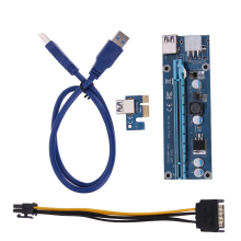ALLOYSEED USB 3.0 PCI-E Express 1X 4x 8x 16x Extender Riser Card w/ SATA 15pin Male to 6pin Power Cable Adapter for BTC Miner
