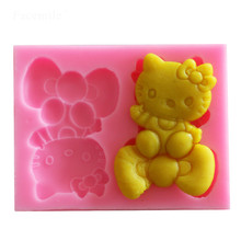 3D Hello Kitty Silicone Soap Molds Resin Clay Candle Mould Fondant Chocolate Cake Mousse Pudding Mold