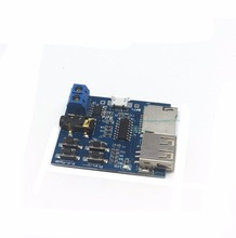 Free shipping 10PCS MP3 lossless decoder board USB memory stick decoder player module comes with power amplifier