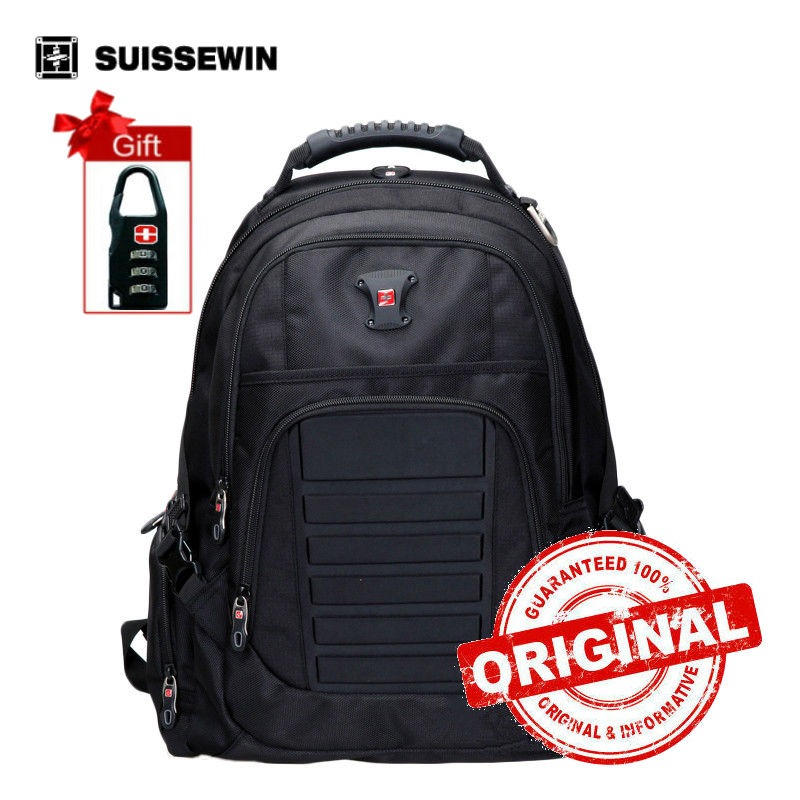 New Swiss Waterproof Business Travel Backpack 1680D Nylon Bag Backpack 15.6 Laptop Backpack o saco da escola rugzak SW9609<br>