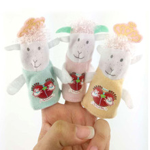 3 pcs/set Hot 9cm Or 7cm Animal Sheep Finger Puppet Plush Toys Baby Favor Cartoon Biological Child Baby Favor Doll Kids Gifts