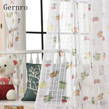 Gernro 52x63 42x84 52x84 60x84 108x84 Inch 1 PC Fruit Curtain Free Shipping Tulle of Window Bedroom Curtains for Living Room(China)
