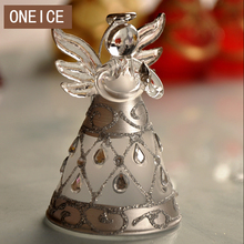 ONEICE Silver Diamond Hokkaido Glass Crafts Blessing Angel Home Furnishings Wedding Decoration Free Shipping Christmas Gift