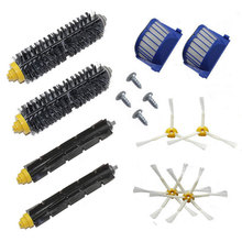 New 2 Bristle Flexible Beater 4 Armed Brush 4 Screw 2 Aero Vac Filter for iRobot Roomba 600 Series 610 620 625 630 650 660