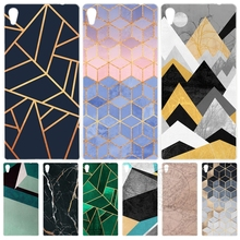 Marble Line Luxury Cover phone Case for sony xperia z2 z3 z4 z5 mini plus aqua M4 M5 E4 E5 C4 C5 XA
