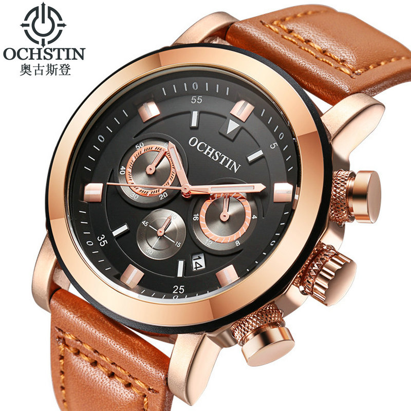 OCHSTIN Luxury Brand Military Chronograph Watches Men Quartz Analog Leather Clock Sports Watches Army Watch Relogios Masculino<br><br>Aliexpress