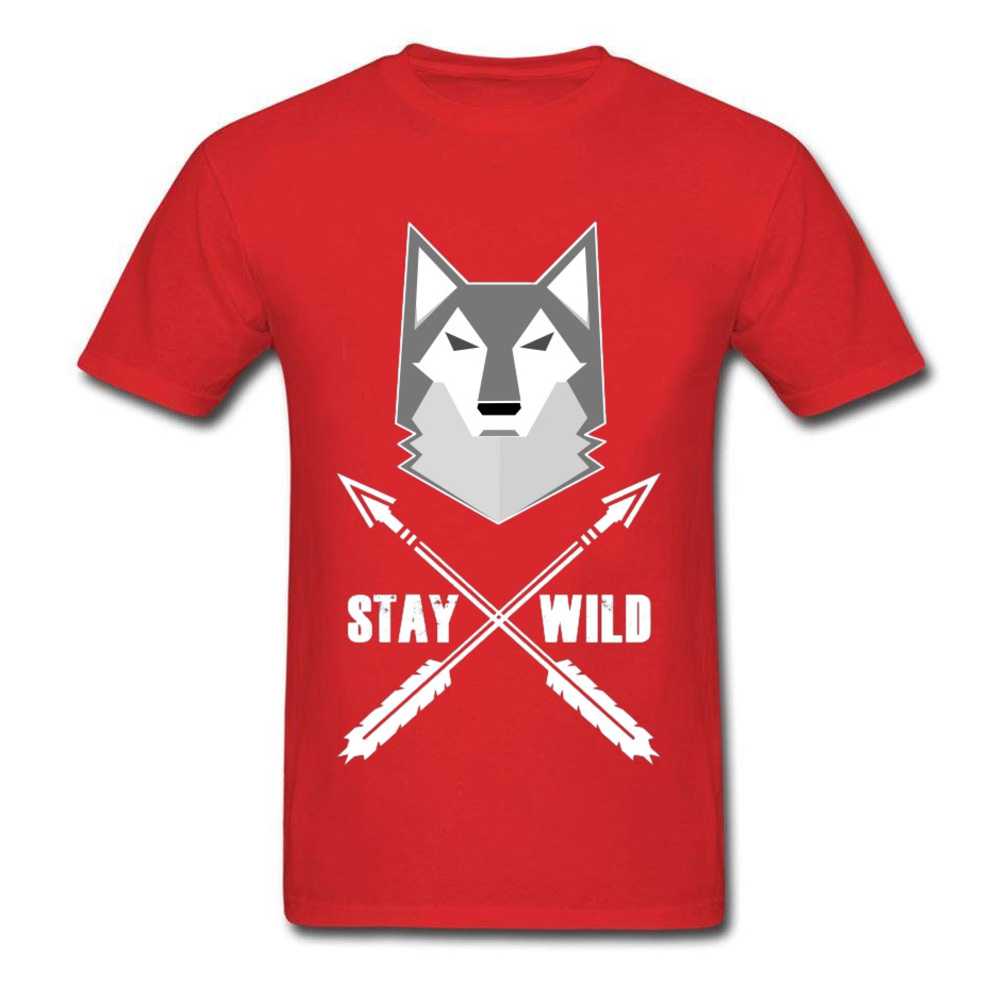 0314WD032 100% Cotton Tops & Tees for Men Casual T-shirts Fashionable Prevailing Crewneck Tops & Tees Short Sleeve 0314WD032 red