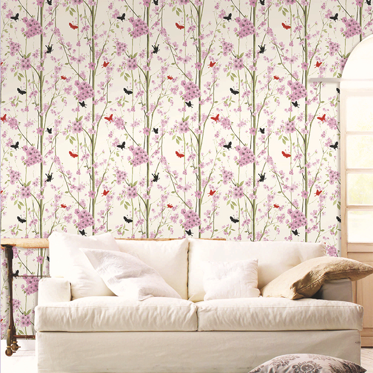 beibehang Tree Butterfly print Forest wallpaper 3d papel de parede home decor for background wall modern designer wallcovering<br>