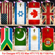 Soft TPU Flags Phone Case For Doogee Homtom HT3 X5 Max Pro HT17 F5 X6 Valencia 2 Y100 Pro cover Country housing sheaths Skin Bag