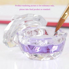 Nail Tools Crystal Glass Dappen Dish Cup Nail Art Acrylic Liquid makeup Powder Nail styling tool nail dust collector(China)