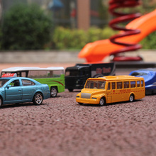 1:64 alloy car model City car series children's toy 5pcs school bus taxi city truck subway Bus Children like the gift