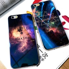 KISSCASE Modern Blue Ray Light Mobile Phone Case For iPhone6 6S Plus 6S 6 7 Plus 5s se 5 Funny Transparent Cover For iPhone 6 6S(China)