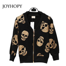 New Arrival kids clothes Girls Boys Jackets fashion Skull Children Clothing Spring Autumn Girl Coats Boys clothes(China)