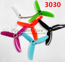 12PCS / 6 pairs 3030 propellers 3 inch 3 blade propeller (CW/CCW) for DIY mini race drones 1306 motor QAV-R quadcopter