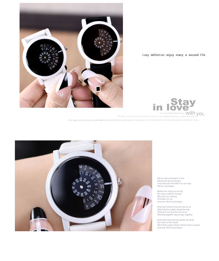 17 BGG creative design wristwatch camera concept brief simple special digital discs hands fashion quartz watches for men women 18
