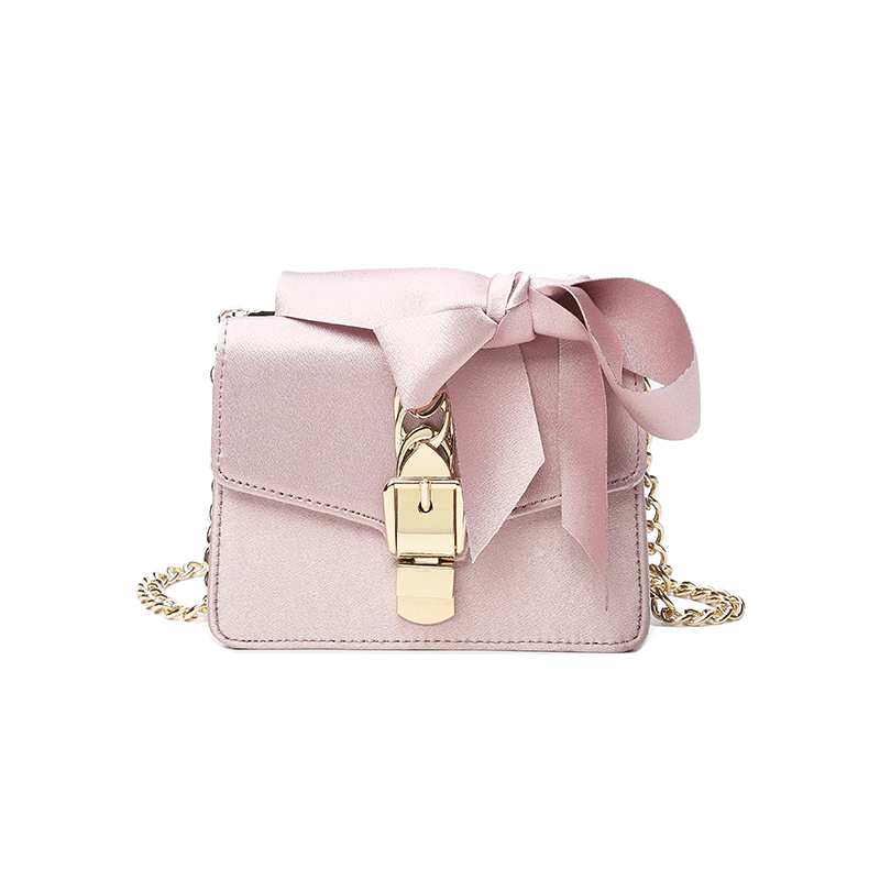Famous Brand Women Bags Silk Bow Designer Handbags Chain Lock Small Square Bag Shoulder Diagonal Female Flap Bag Purses Clutches<br>