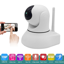 Video Monitoring Surveillance 1.0 MP HD 720P WiFi Wireless IP Camera with Night Vision Pan/Tilt Two-Way Audio Motion Detection
