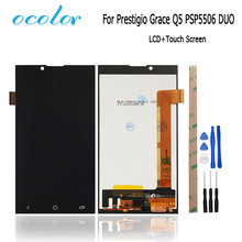 For Prestigio Grace Q5 PSP5506 Duo LCD Display + Touch Screen 5inch Good Screen Digitizer Assembly Replacement+Tool+Adhesive(China)
