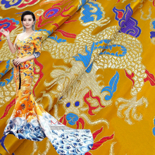 width 0.75m*length 1m, dragon pattern embroidered DIY handmade bag,furniture covering and clothes fabric cloth 223