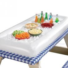 1 PC Inflatable Serving Bar Cooler Buffet Salad Food Drink Tray For Party Picnic Storage Trays Ice Cooler Picnic Drink Table(China)