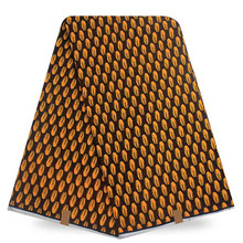 Panic Buying Wax African Print Yellow Blue White For Sewing Dress African Wax Prints Fabric Super Wax Hollandais(China)