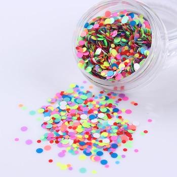 3g de Color Caramelo Redondo Lentejuelas Uñas Consejos 1mm/2mm Mixta de Uñas Consejos Glitter 1 Caja de Manicura Arte Del Clavo de DIY Decoración