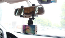 Adjustable Rotary GPS Mobile Phone Car Auto Rearview Mirror Mount Holders Stands Zopo Flash G5 Plus,Flash E,Speed 7 Plus 7C