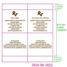 Custom clothing instructions White satin ribbon washing labels printed care label for dress 3.5 cm * 8 cm
